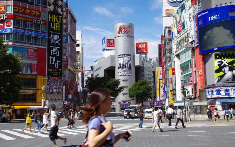 渋谷駅前交差点109方面