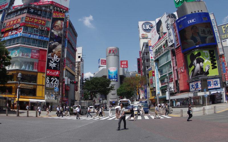 渋谷駅前交差点近辺109方面
