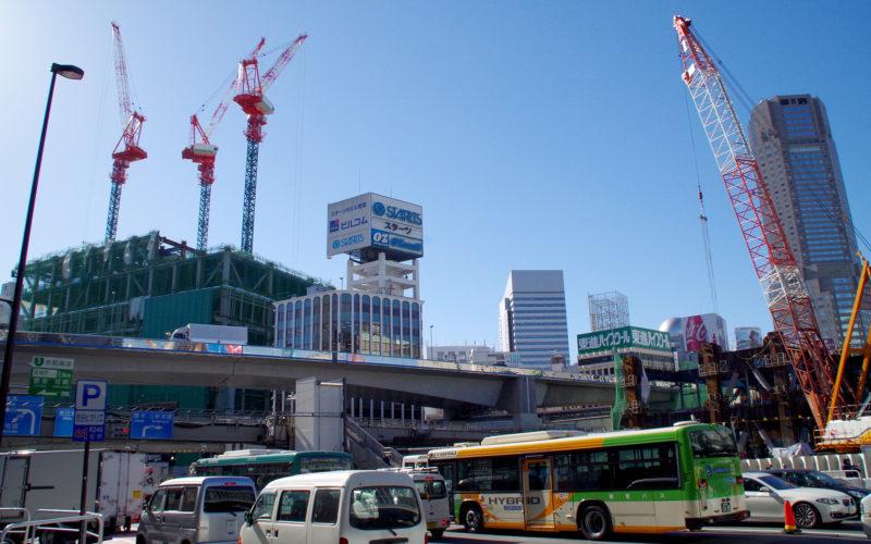 渋谷駅東口東急ストリーム建設現場