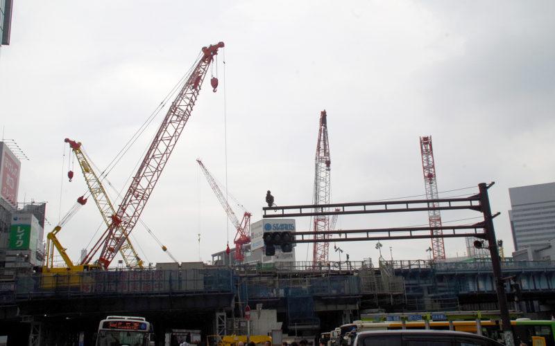 宮益坂下交差点銀座線移設工事