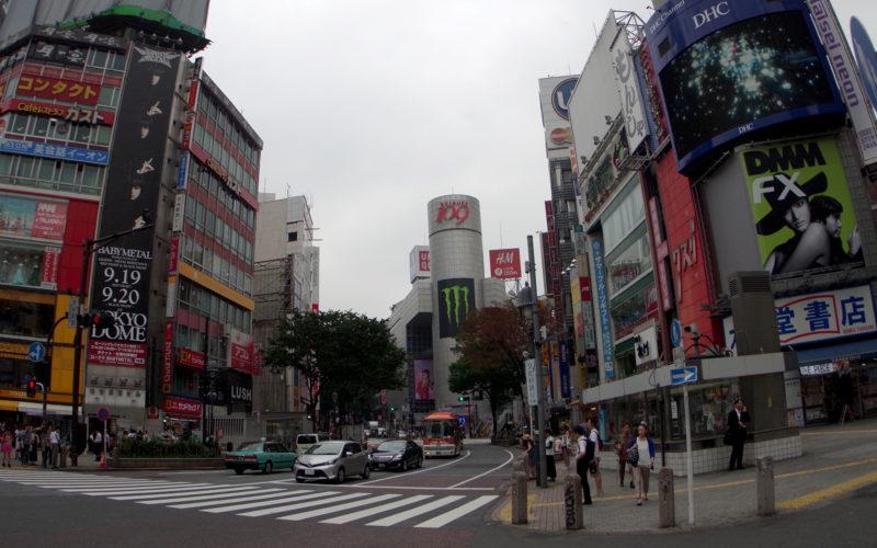 駅前交差点SHIBUYA109方面