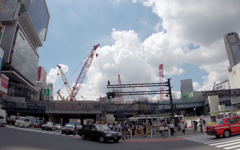 宮益坂下交差点渋谷ストリーム