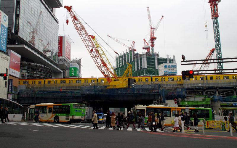 渋谷ストリーム建設現場