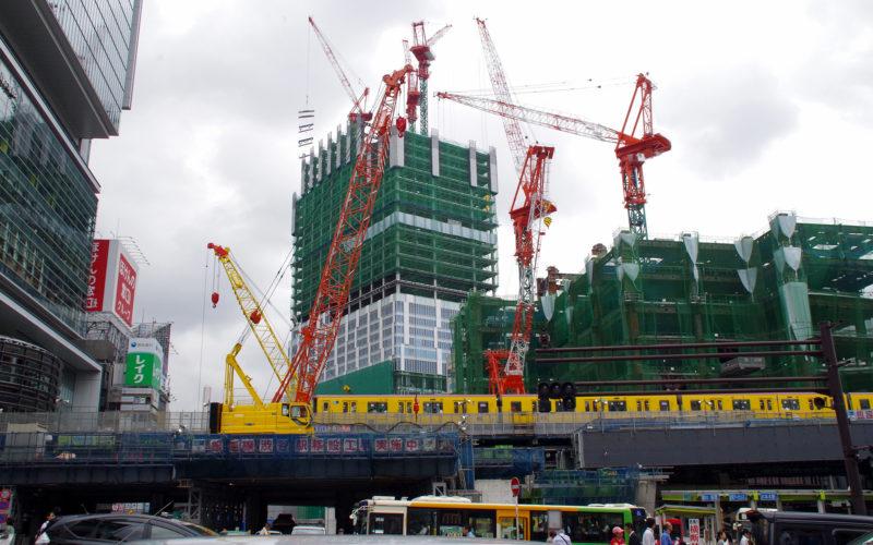 渋谷ストリームと東急東横店東館タワー建設工事
