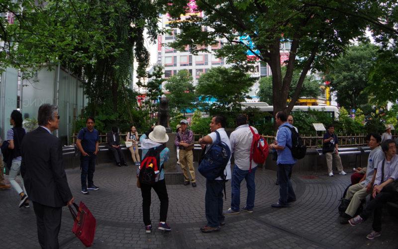ハチ公前広場近辺