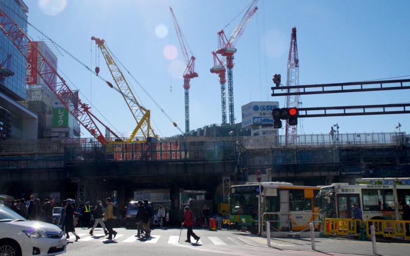 渋谷東急ストリーム建設現場