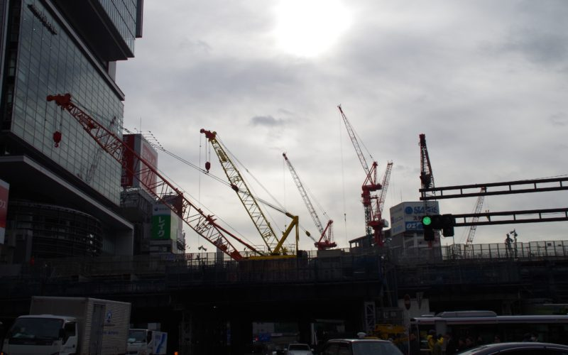 宮益坂下交差点から渋谷ストリーム建設現場