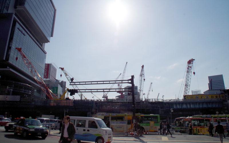 宮益坂下交差点渋谷ストリーム建設現場