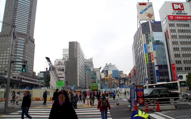 渋谷中央街旧東急プラザ跡地建設現場