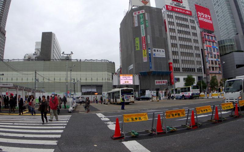 渋谷中央街東急プラザ取り壊し中