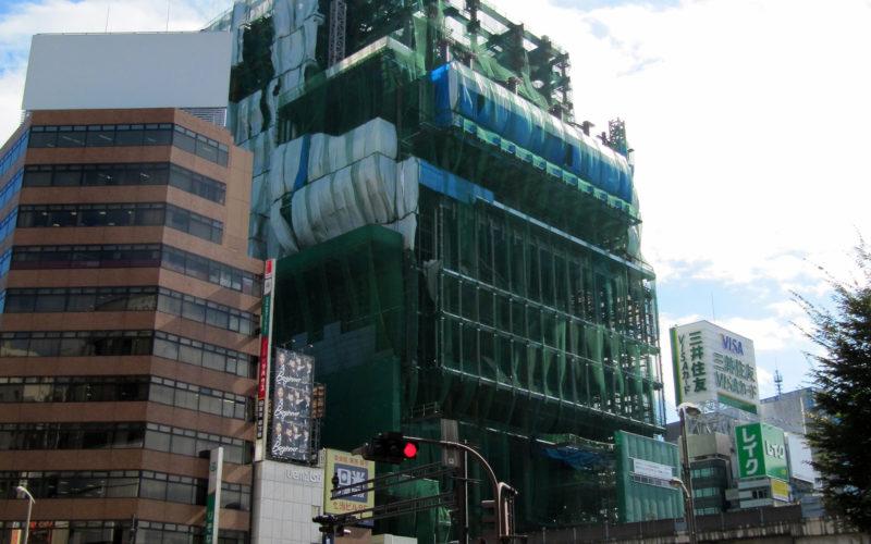 20101027渋谷ヒカリエ建設中